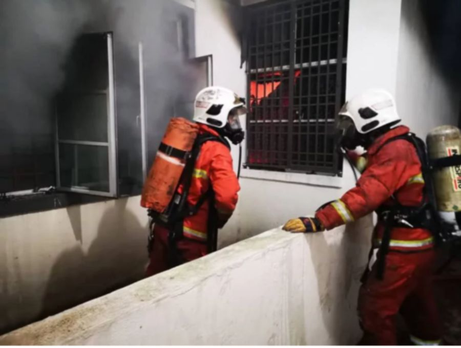 Elderly couple burns to death in Ipoh apartment fire