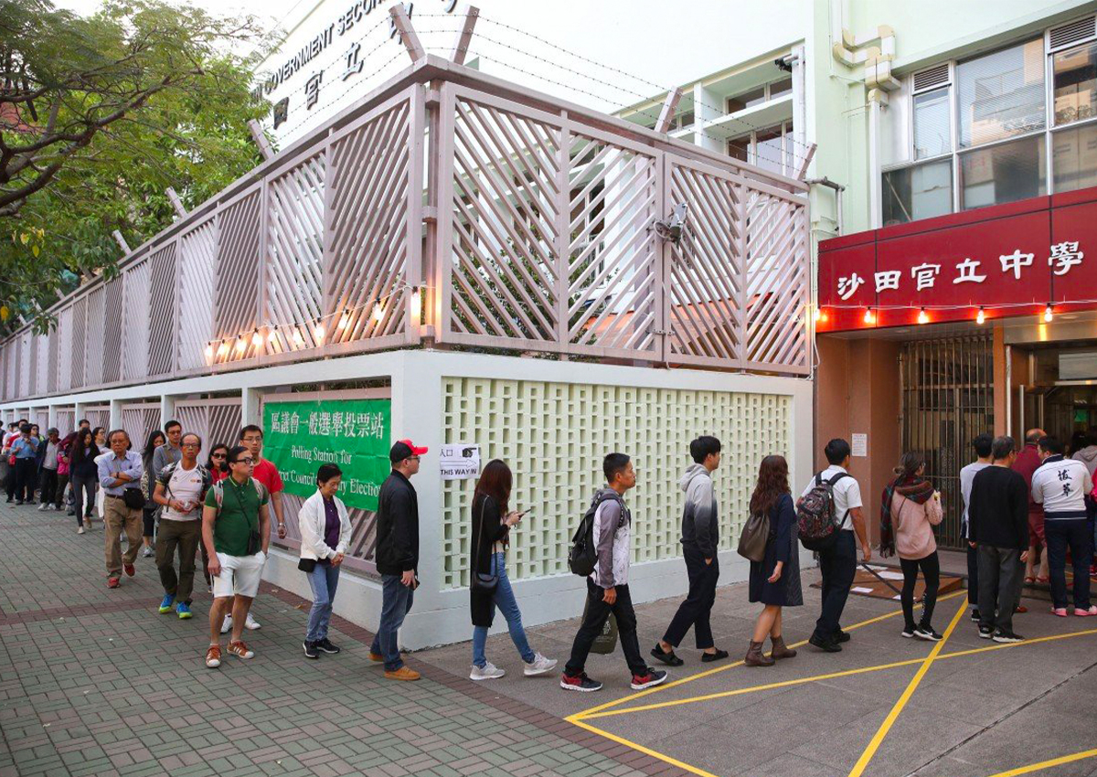 Long queues as voting kicks off in first polls since Hong Kong protest crisis erupted