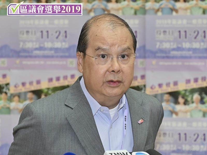 【区会选举】张建宗:政府无意提早结束投票 盼维持良好气氛