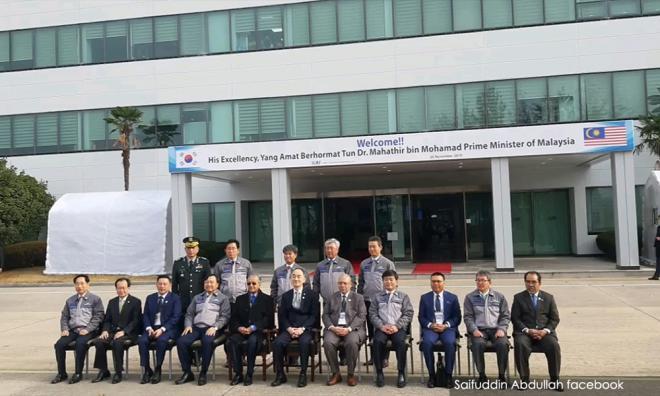 马哈迪访韩国航宇工业公司,冀了解成就与发展