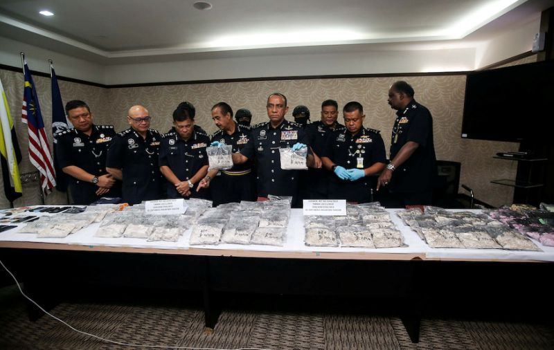 Illicit drug lab found in Klebang with nearly 110kg of goods worth over RM600,000