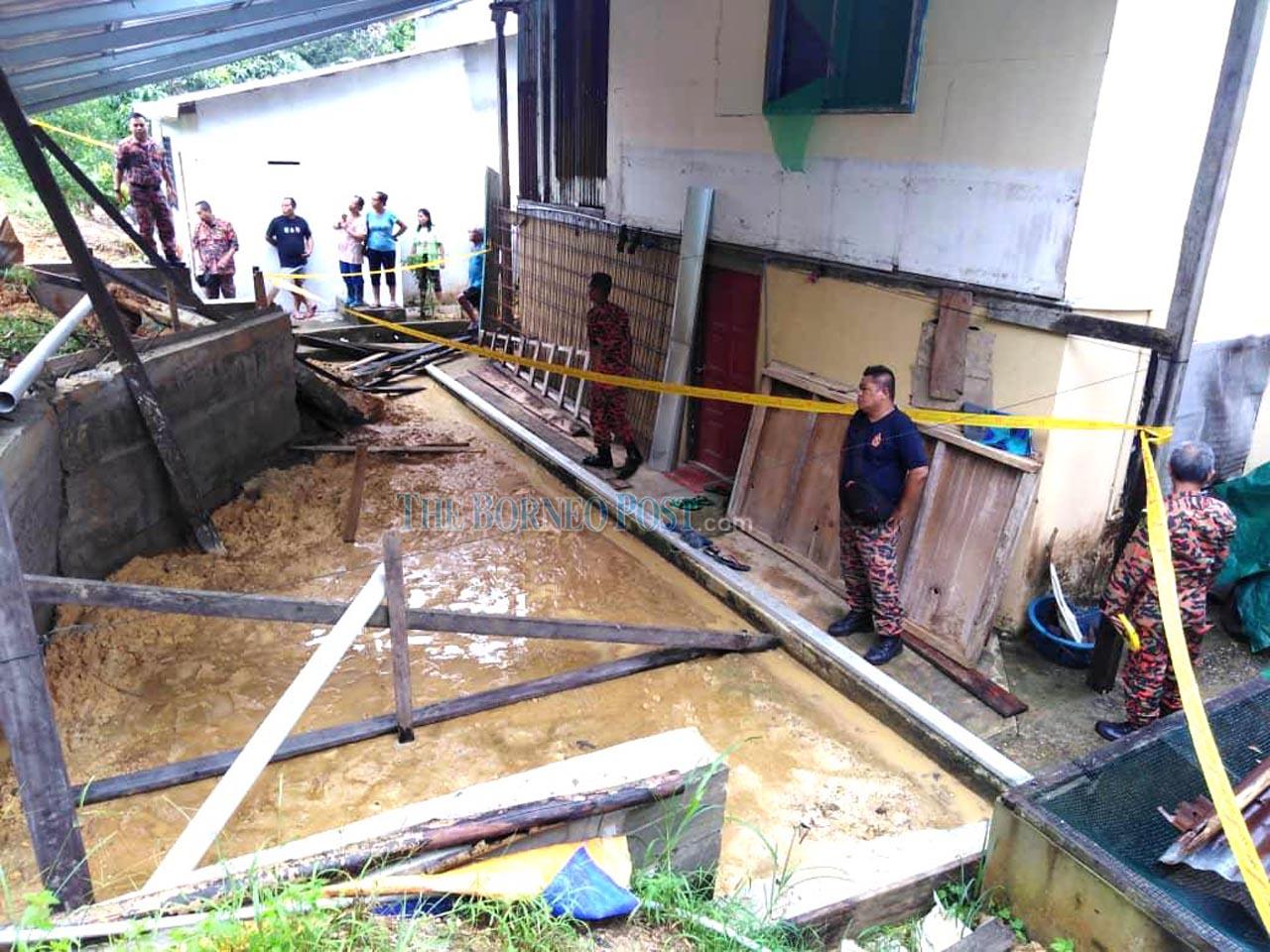 Landslide strikes Machan longhouse