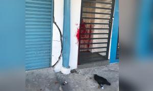 PKR Youth chief's office splashed with red paint, chicken carcass