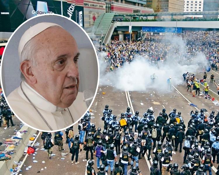 【修例风波】香港非唯一爆发示威地区 教宗吁对话创造和平