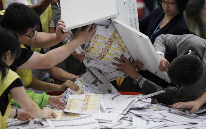香港选举投票结果 中国官媒不提