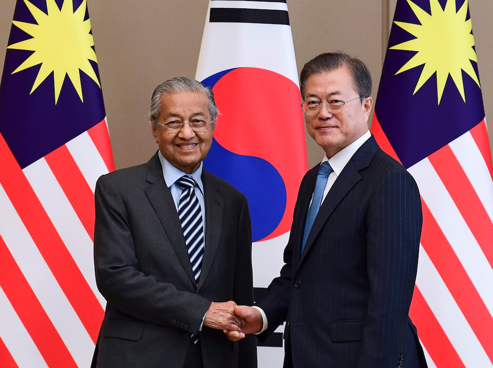 Dr M: Malaysia welcomes South Korea's proposal to elevate ties to strategic partnership