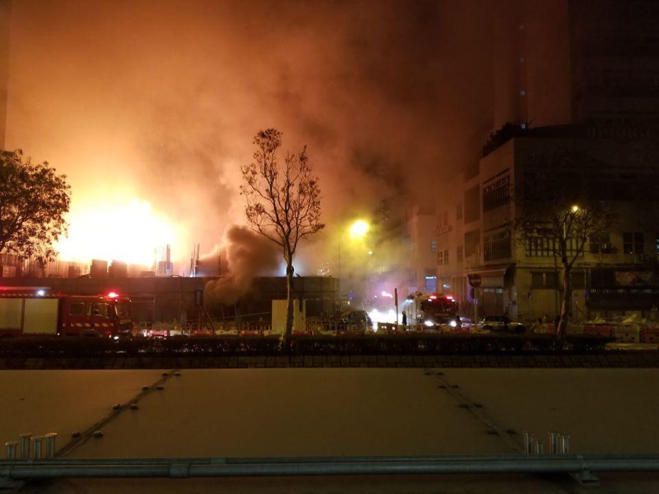 荃湾建筑地盘三级火 暂无人受伤