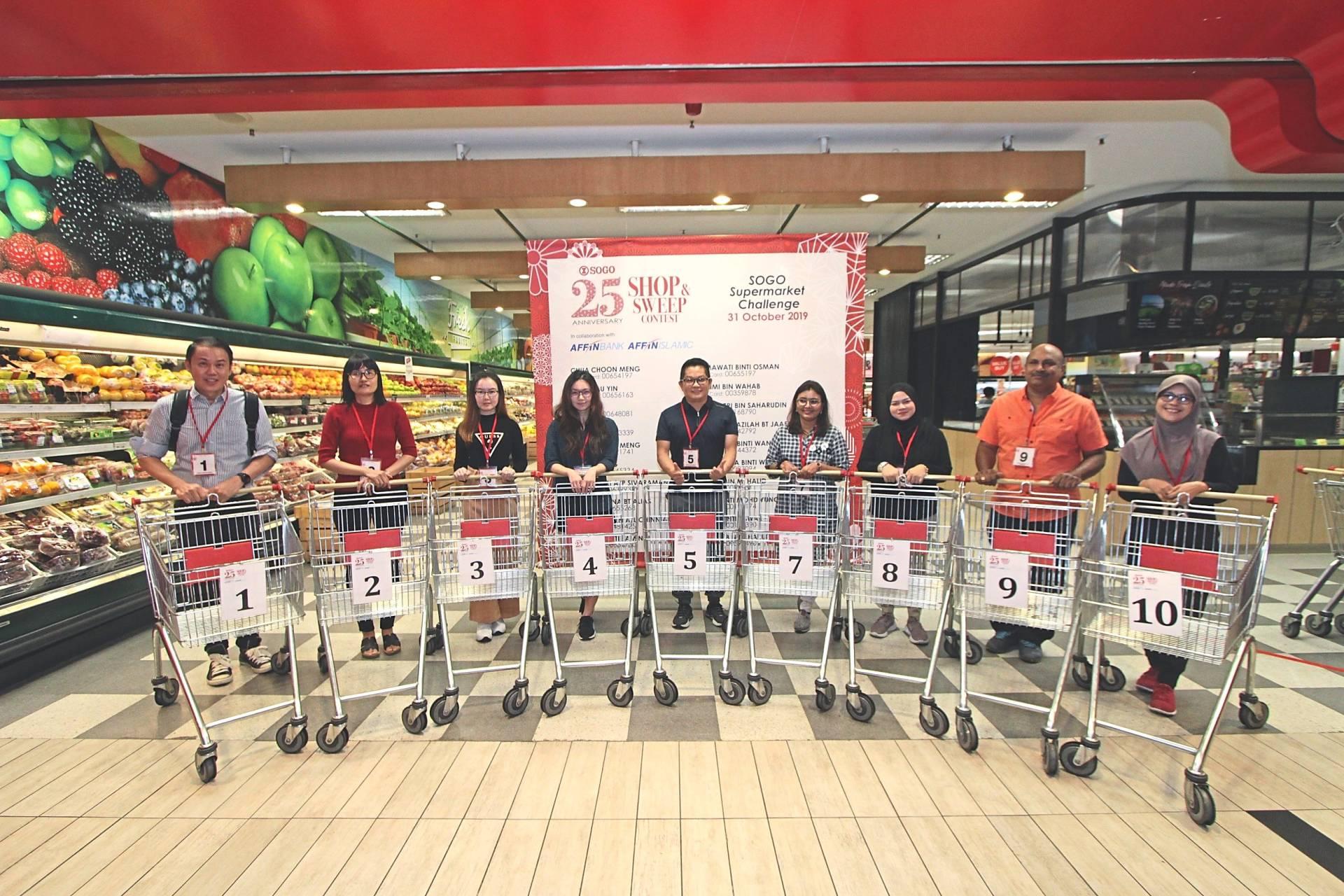 Grabbing goodies worth RM2,500 in supermarket challenge