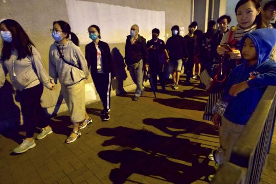 Protesters march against police use of tear gas as Hong Kong readies for a day of demonstrations