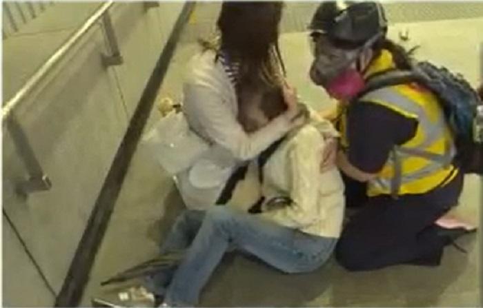 【修例风波】尖东站婆婆被防暴警推跌 回家后感晕眩无大碍
