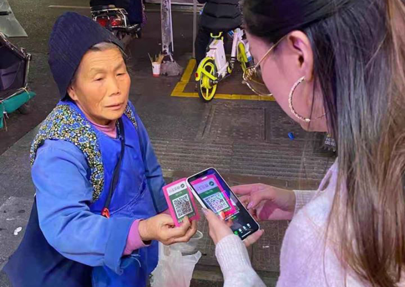 No cash, no problem: Beggars in China now accept WeChat pay