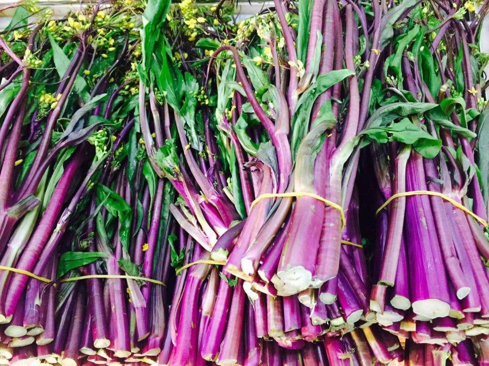 这个季节,属于红菜薹!