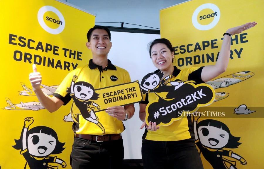 Singapore's Scoot launches direct flight to KK