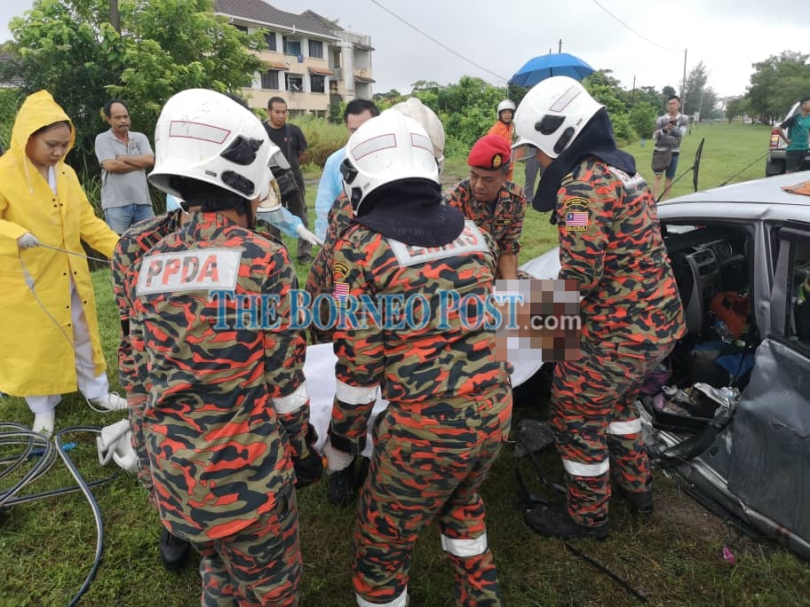 Car passenger killed in collision with pick-up truck in Miri