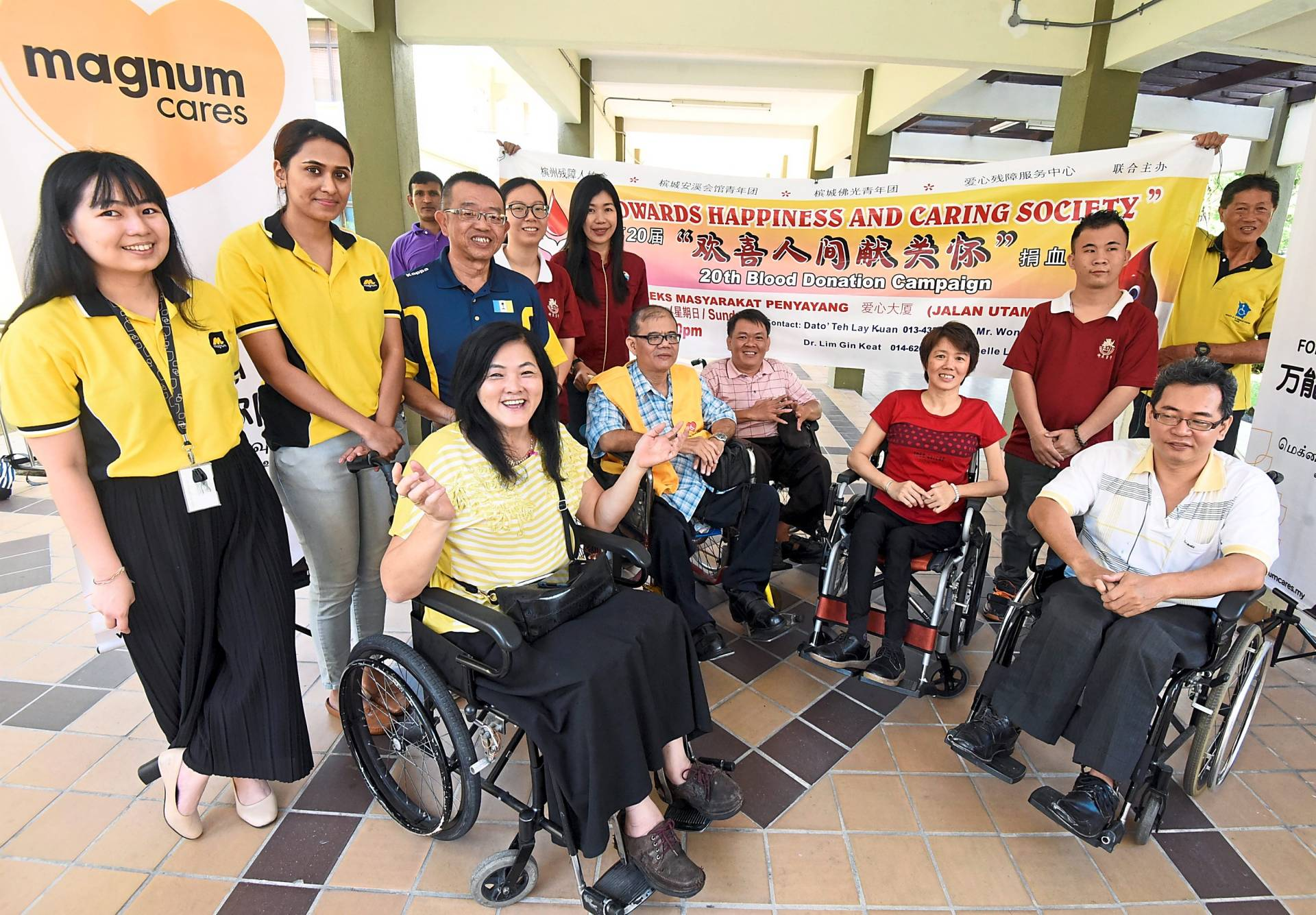 Differently abled persons to donate blood