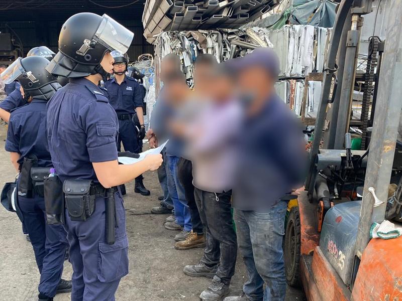 入境处一连三日反非法劳工拘47人