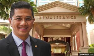 Why are Azmin's people meeting at the Renaissance?