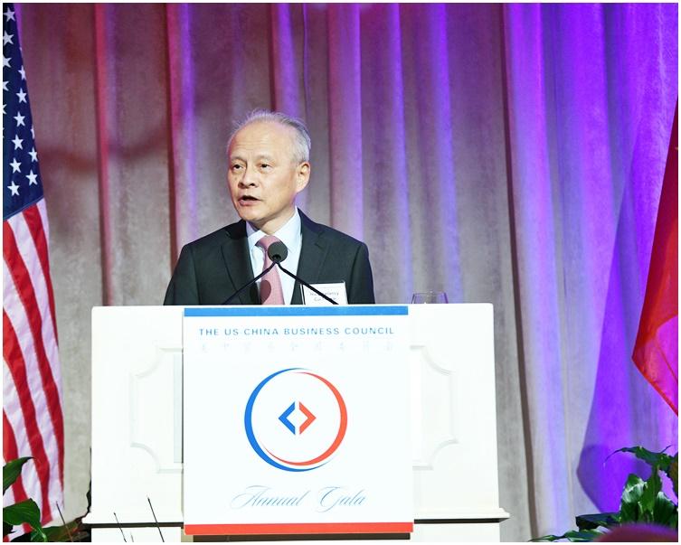 崔天凯吁中美企业为两国合作注入正能量