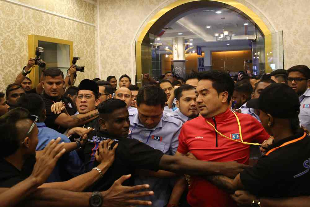 Chaos at PKR Youth Congress as sacked chairman smuggled in before being thrown out
