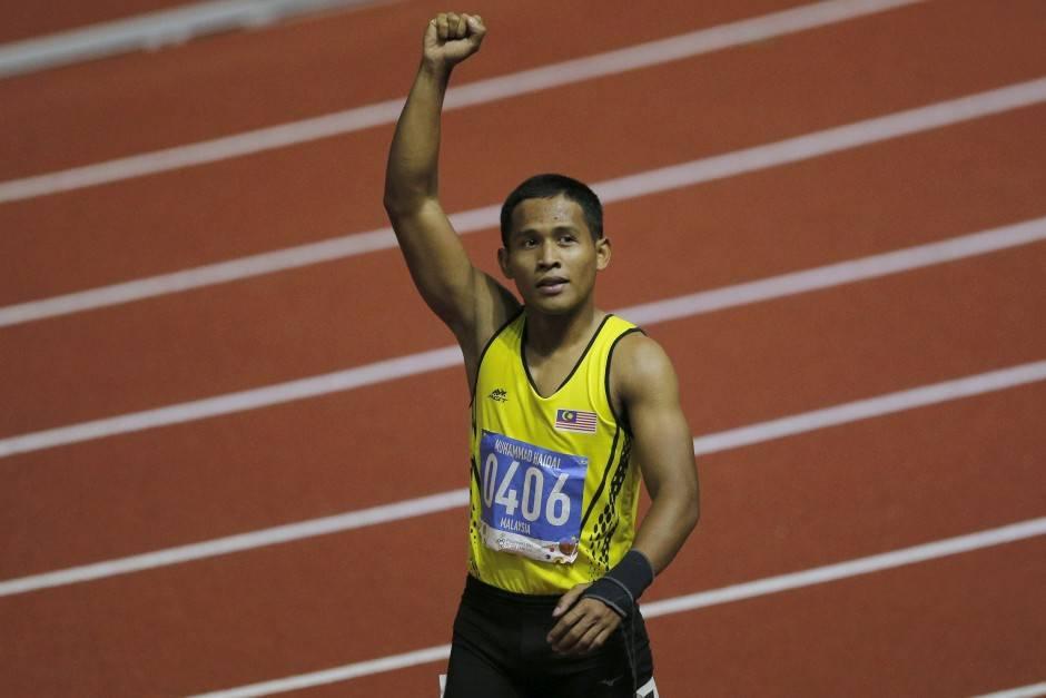 Sprinter Mohd Haiqal wins 100m gold