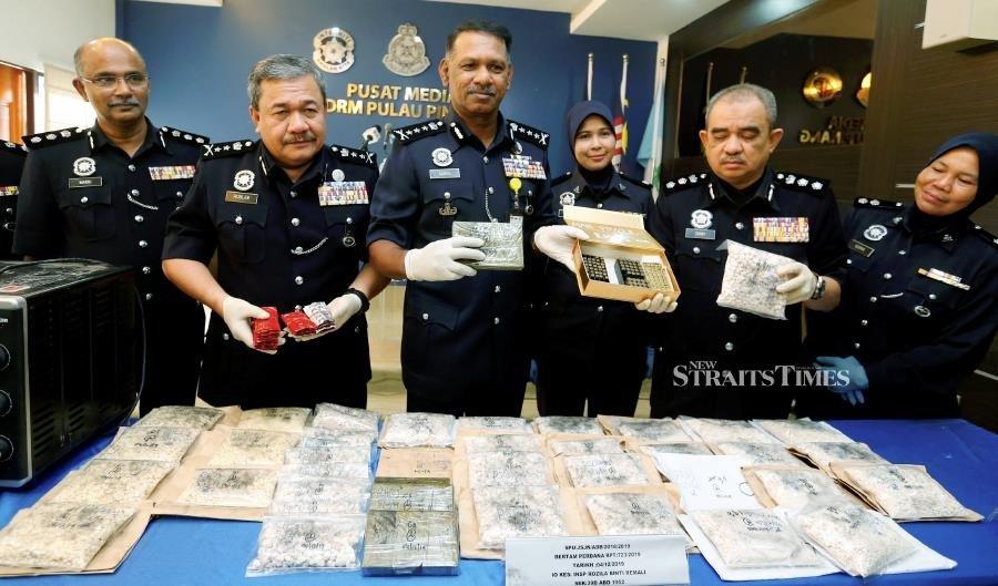 Penang cops smash drug processing syndicate, five arrested