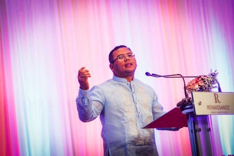 Who in PKR attended Azmin's gathering and what they said