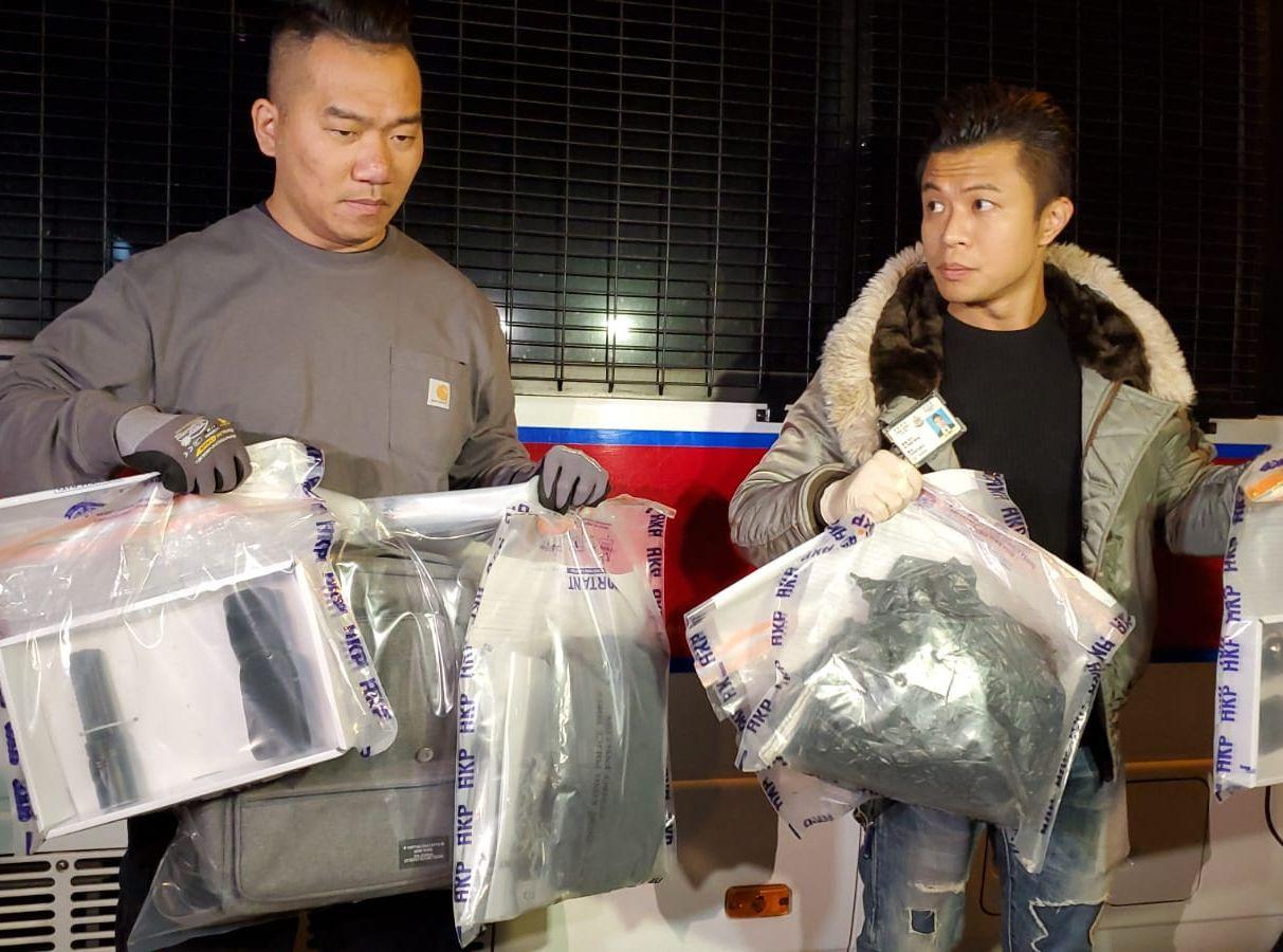 香港华仁书院附近现土制炸弹 藏有两类粉状化学物及铁钉