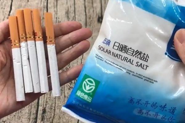 香烟加食盐放一起超厉害,10个人里有9个不知道,学会受用一生