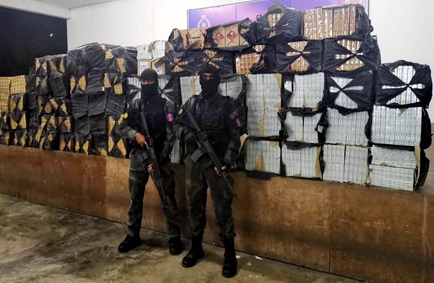 RM289,552 smuggled fags seized, four detained