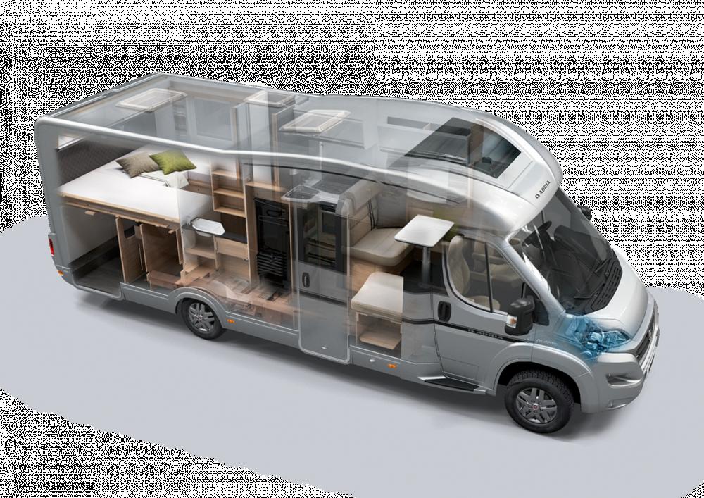 露营车内小小的空间就像在家一样温暖! 是你出游的最佳交通工具!