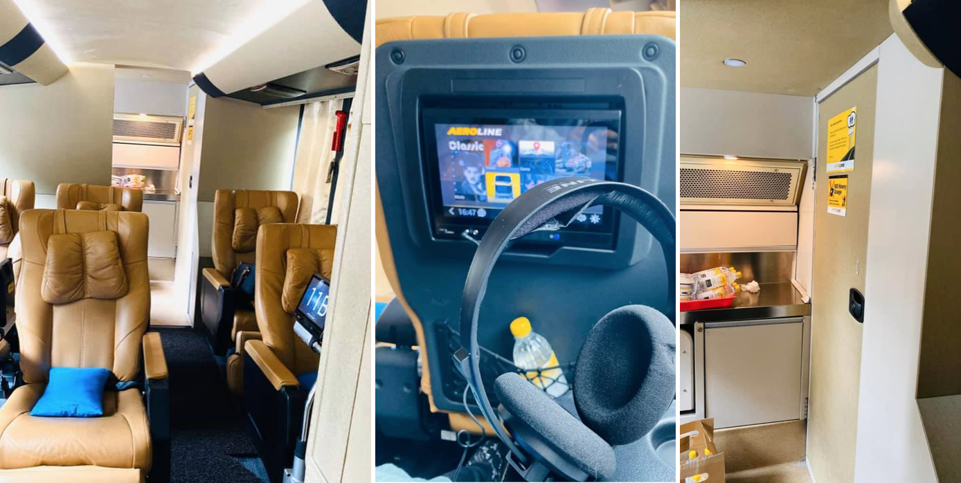 Coach from S'pore to M'sia has roomy seats, hot meals, charging ports & toilet on board