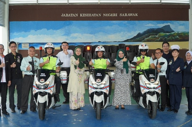 Sarawak Health Department to deploy first responders on motorcycles beginning next year