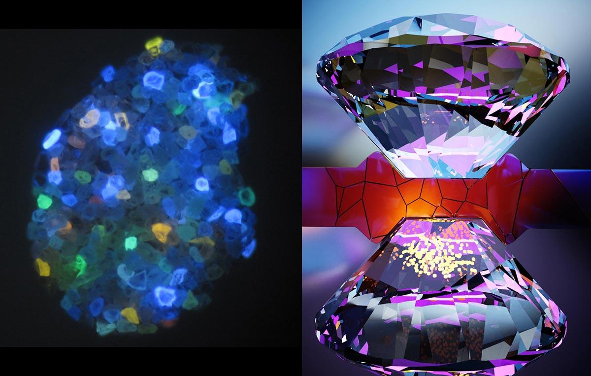 Nanoscale Quantum Sensors Image Stress and Magnetism at High Pressures