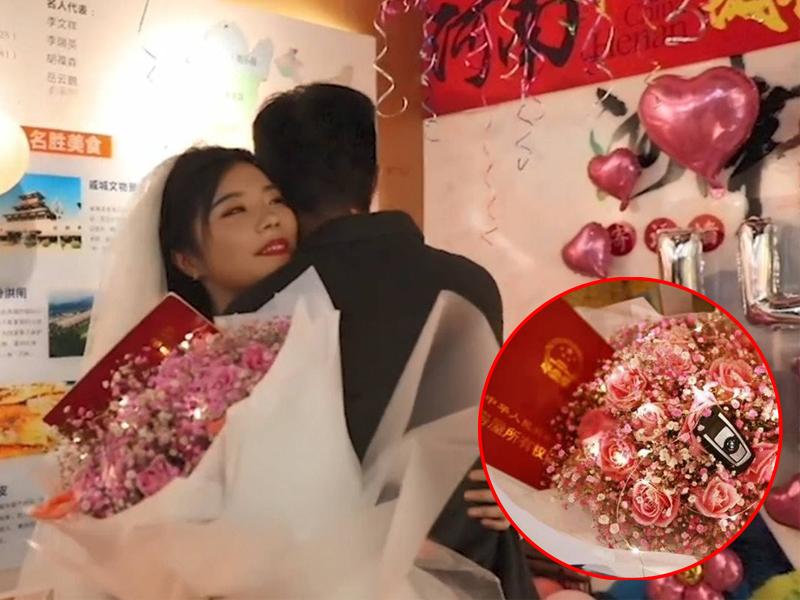 24岁女带房契宝马车匙向男友求婚:我养你