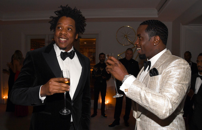 Video Shows JAY-Z Snatching Phone From Man's Hand at Diddy's 50th Birthday Party