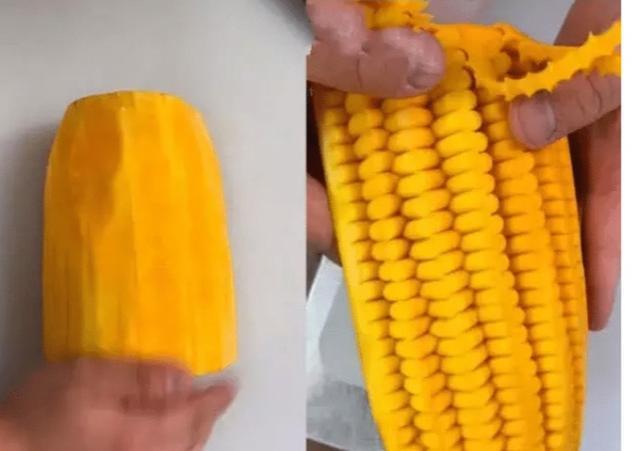 当食材刻上玉米粒,不少女生看到纷纷表示:不舍得吃