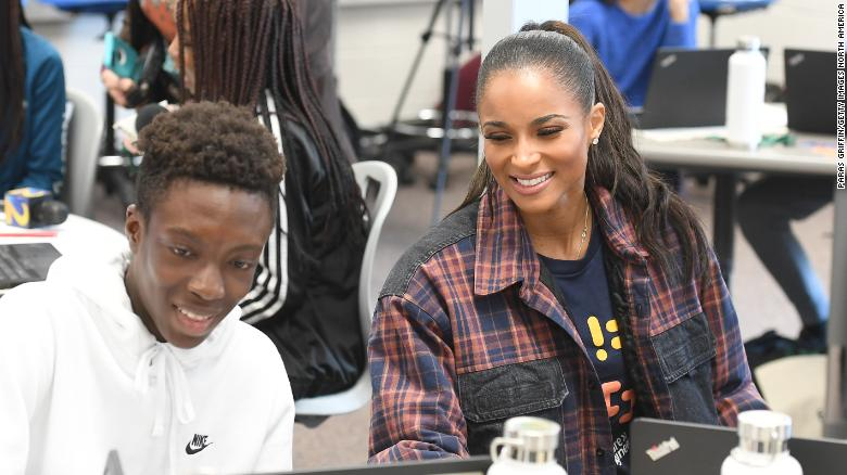 Ciara comes home to surprise STEM students