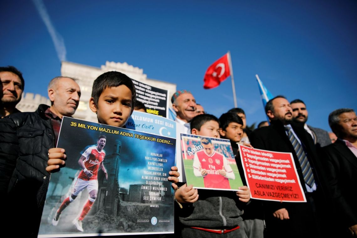 US says China 'can't hide' Uighur plight after retaliation against Arsenal