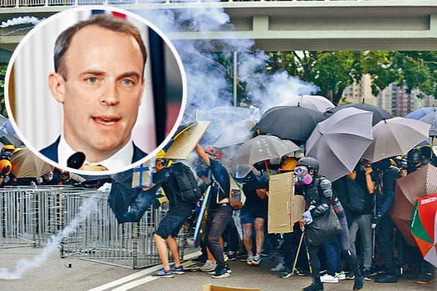 【修例风波】英外相蓝韬文吁北京与香港示威者对话