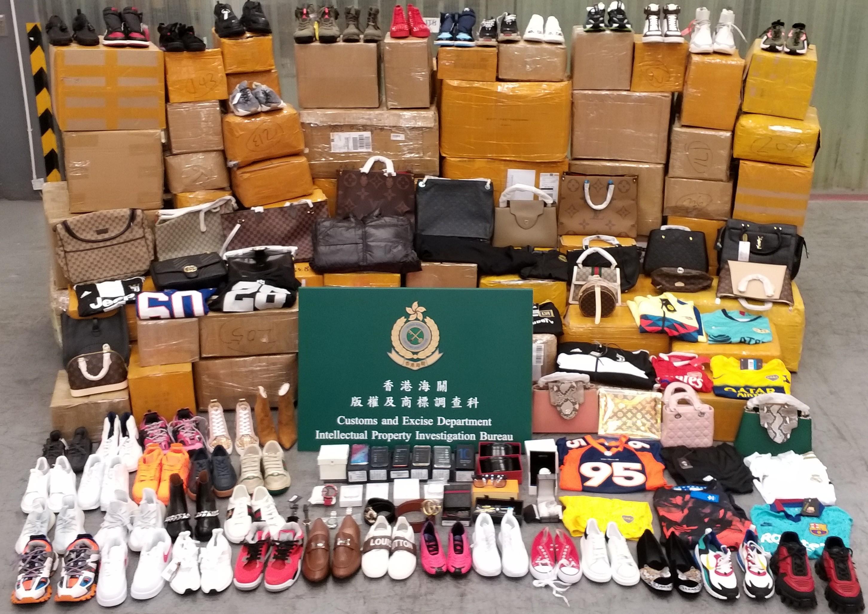 海关检1.3万件输往美国冒牌货 市值约150万元