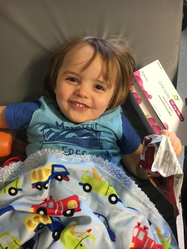 Early Christmas for toddler with cystic fibrosis as he gets life-enhancing drugs