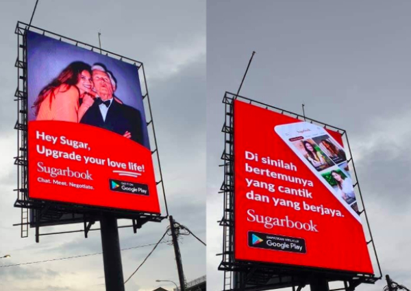 Sugar dating billboard ads in Kuala Lumpur anger Malaysians