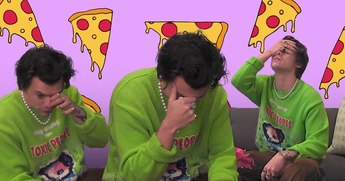 Harry Styles in tears over pizza at centre of hilarious prank on The Ellen Show: 'Why do I do this?'