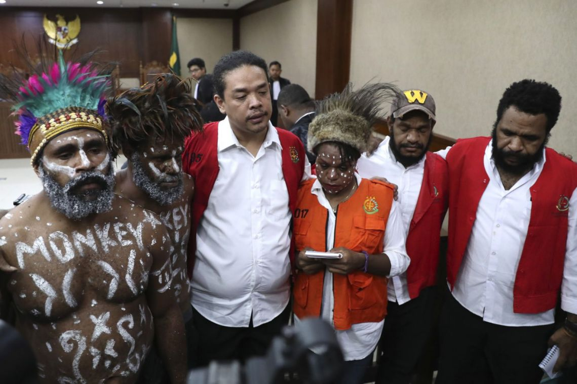 6 activists stand trial in Indonesia on charges of treason