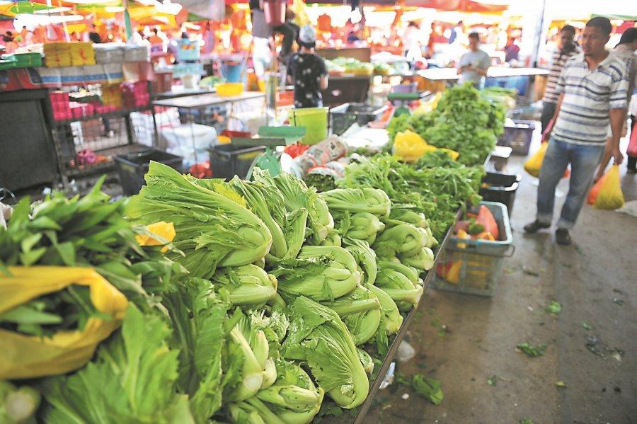 雨季挫产量 本地菜价涨30%