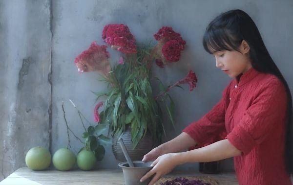 李子柒做紫薯花,网友在家模仿,看到成品这是有毒?