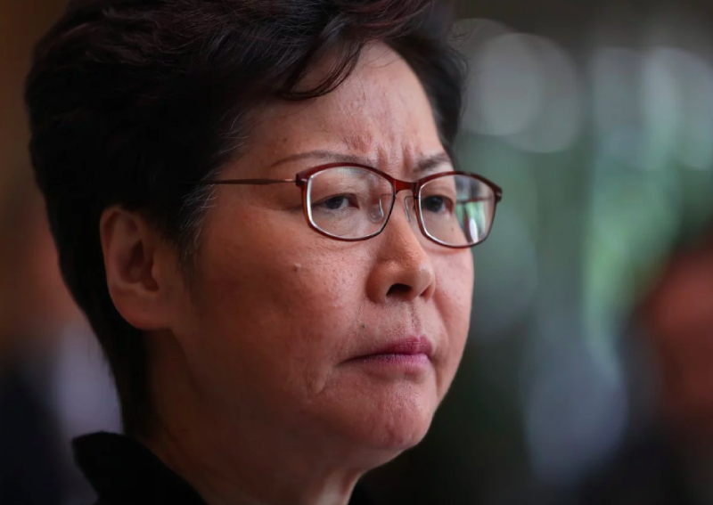 Hong Kong leader Carrie Lam calls doxxing a threat to society after personal details are published online