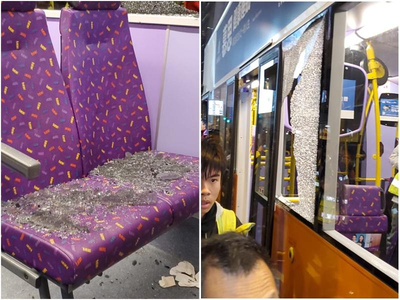 干诺道中近爱丁堡广场新巴与客货车相撞