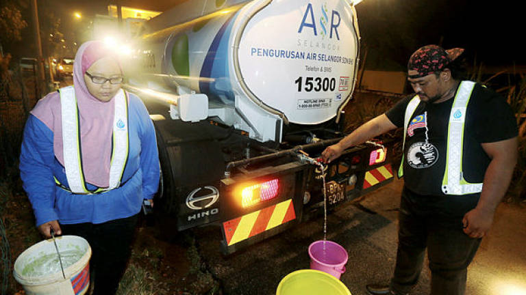 Water supply for 1.5m Selangorians resumed last night, full resumption anticipated in 72 hours