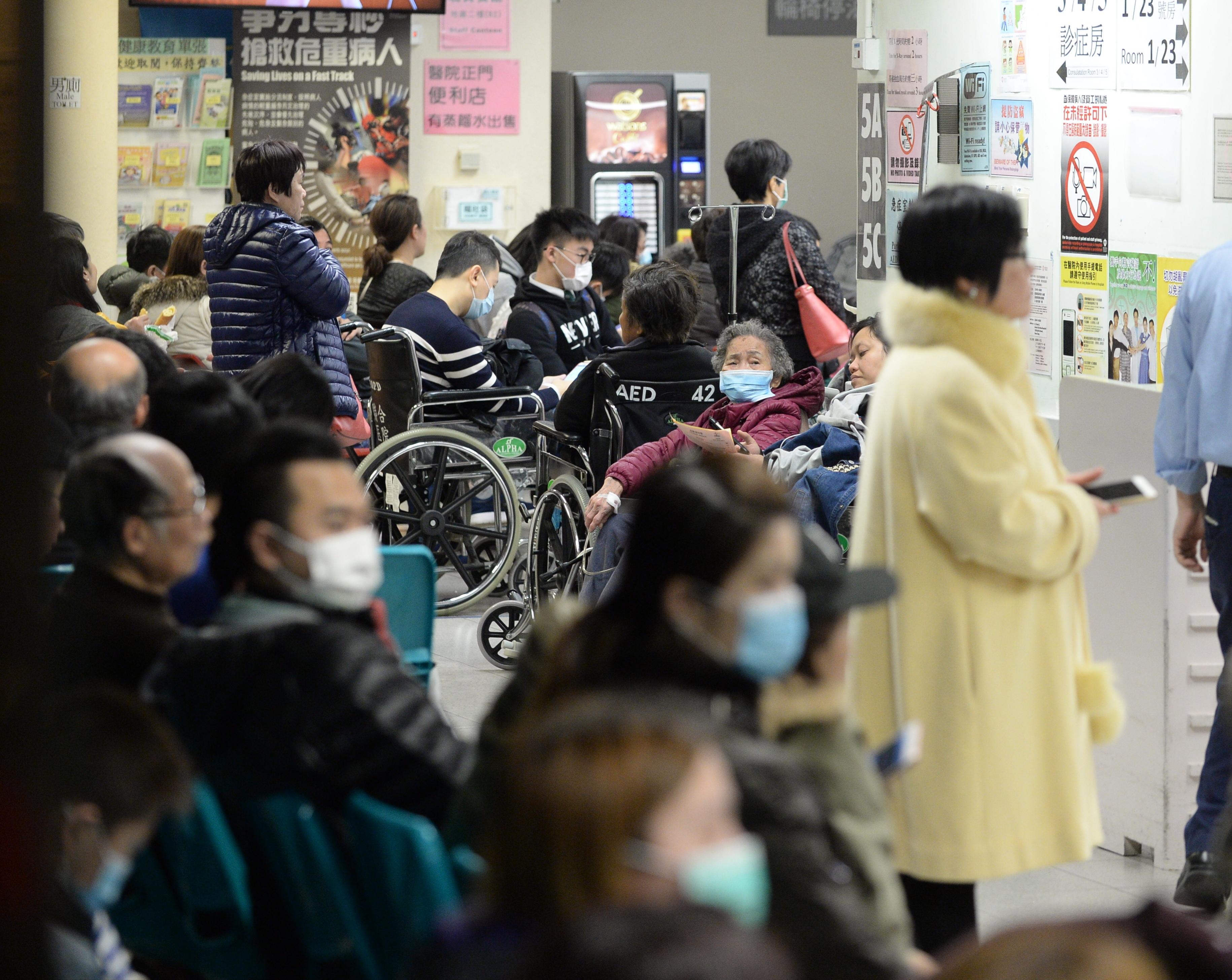 昨日6287人次急症室求诊 14公院爆满